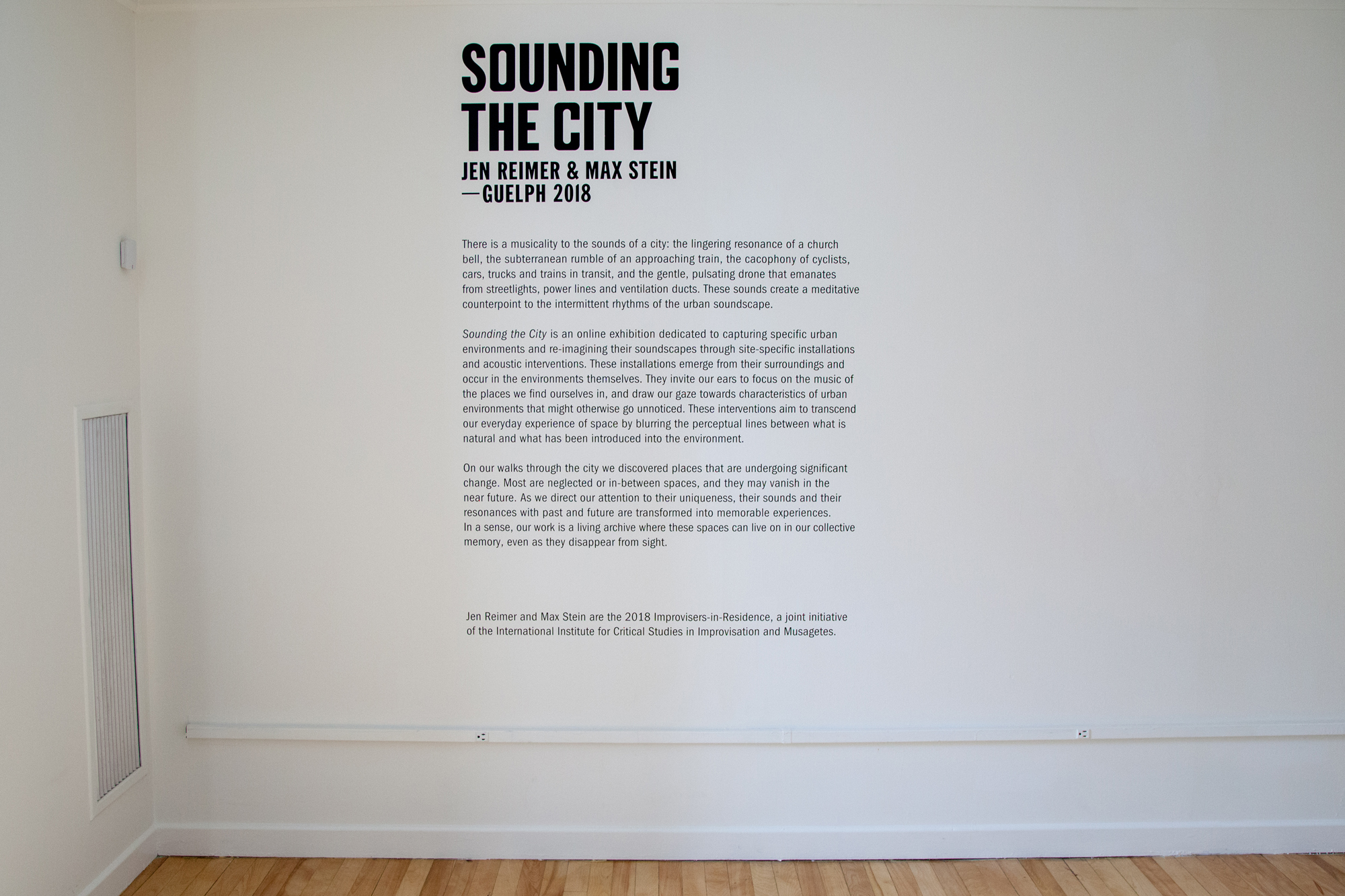 Exhibition photo 2 - Sounding the City 003 - Guelph 2018