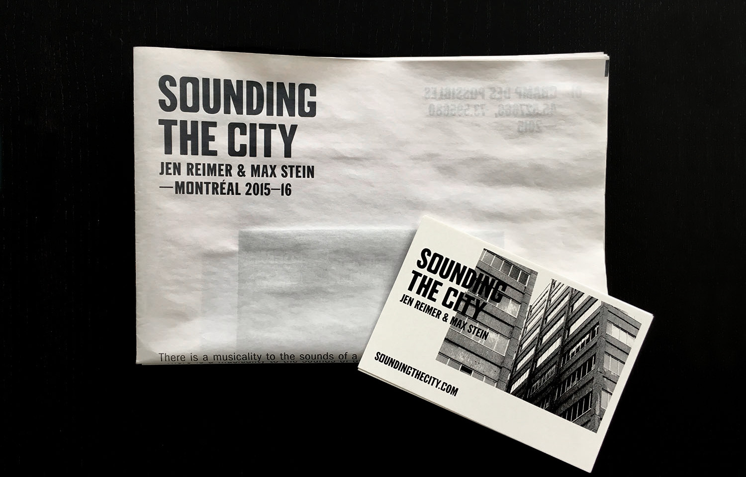 Publication photo 1 - Sounding the City 001 - Montréal 2015-2016
