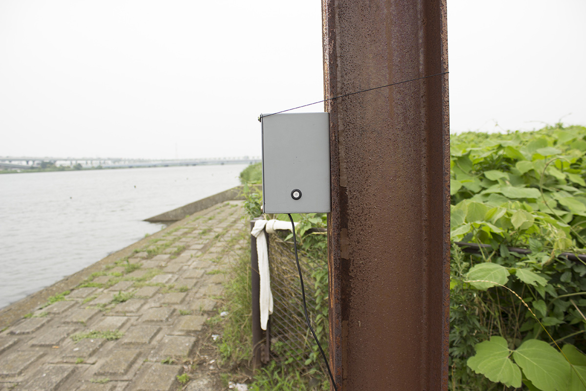 01 Arakawa River - Higashisumida - Installation photo 5 - Sounding the City 005 - Sumida-ku 墨田区 2019