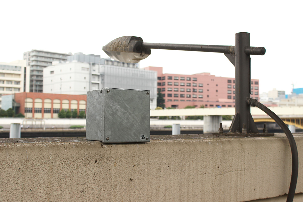 02 Sumida River - Yokoami - Installation photo 3 - Sounding the City 005 - Sumida-ku 墨田区 2019